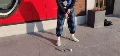 tartanikangast golfipüksid