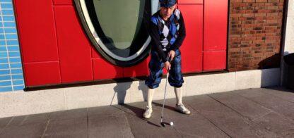 eesti tartani golfipükstes mees